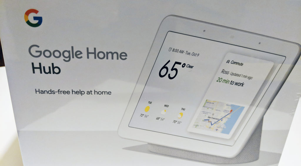 Google Home Hub and Me - Dad In A Smart Home